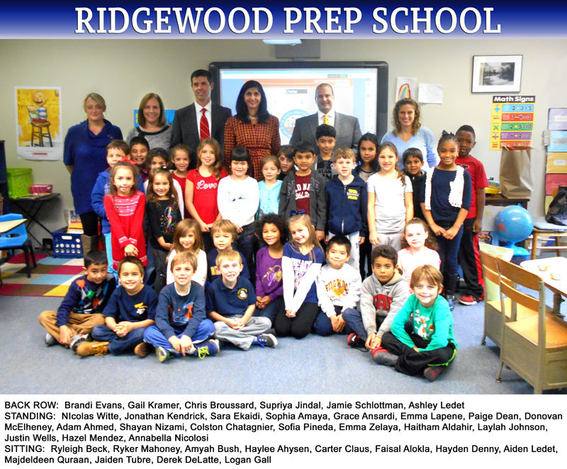 On Friday, Dec. 12, 2014, Supriya Jindal visited the 1st and 2nd grade classes at Ridgewood Preparatory School in Metairie