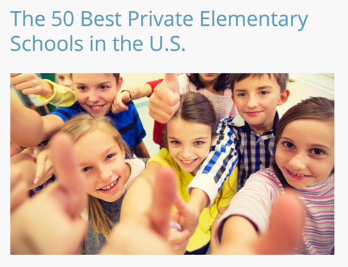 Ridgewood Prep School ranked in The 50th Best Private Elementary Schools in the U.S.